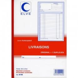 Manifold Bon de Livraison - A4 - Dupli - Elve 2145