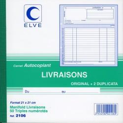 Manifold Bon de Livraison - 21x21 cm - Tripli - Elve 2106