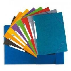 Chemise Carte lustrée - Elba - Top fil 3 rabats - élastique - coloris assortis