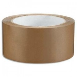 Ruban adhésif emballage PVC -1er prix - 48mmx66m - Havane - 53 microns