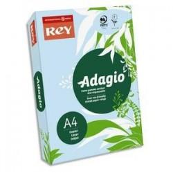 Papier couleur bleu - Rey - Adagio - 500 feuilles  A4 - 80g - Copieur, laser, jet encre