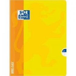 Cahier open-Flex -  Oxford -24x32 -grands carreaux seyès -140 pages - piqûre - couverture Polypro.