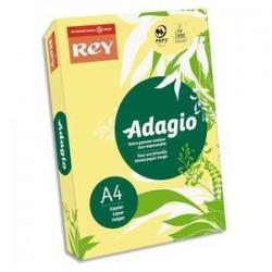 Papier couleur Banane fluo - Rey - Adagio flash - 500 feuilles  A4 - 80g - Copieur, laser, jet encre