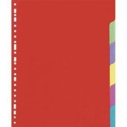 Intercalaires - jeu de 6 touches - 5 Etoiles - Format A4 - carte lustrée 225g - Perfo. 23 trous