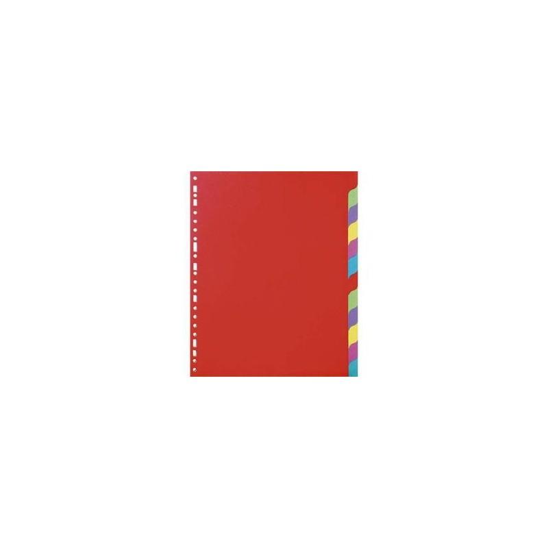 Intercalaires - jeu de12 touches - 5 Etoiles - Format A4 - carte recyclée 225g - Perfo. 23 trous