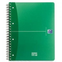 CAHIER AVEC INTERCALAIRES - OXFORD - EUROPEAN BOOK URBAN - RELIURE INTEGRALE - A4+ - PETITS CARREAUX - PAGES DETACHABLES