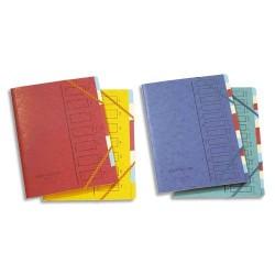 Trieur carton - 12 Compartiments - couleurs assortis - EMEY