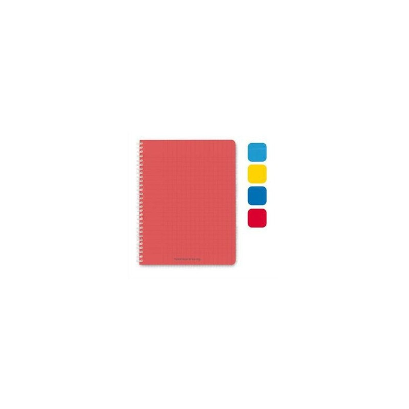 Cahier spiralé - 180 pages - 5x5  -17x22  - Couverture Polypro assortie - 1er PRIX