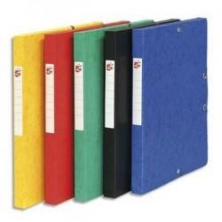 Boîte de classement à élastique - Carte lustrée 7/10 - 600g - Dos 25mm - Coloris assortis - 5 ETOILES