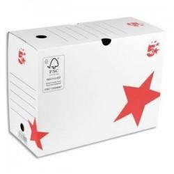 Boîte archives - Dos 20 cm -  Montage automatique - blanc - 5 ETOILES