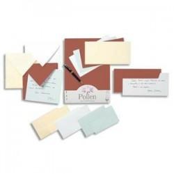 Paquet de 25 cartes - 210g  - POLLEN - 10.6x21.3cm - Blanc - CLAIREFONTAINE