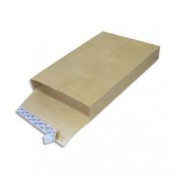 Paquet 50 pochettes - Kraft - 3 soufflets de 3cm - 260x330 - OXFORD