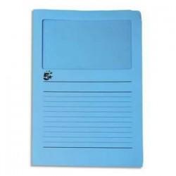 50 pochettes coins 22*31 - à fenêtre - 120g - Bleu - 5 ETOILES