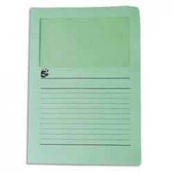 50 pochettes coins 22*31 - à fenêtre - 120g - Vert - 5 ETOILES