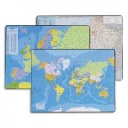 Sous mains - Carte du PLANISPHERE - 53x40 cm - ESSELTE