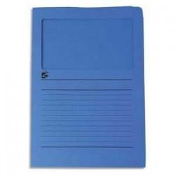 Paquet de 50 pochettes coins - A fenêtre - Carte 120g - 22x31cm - Bleu foncé - 5ETOILES