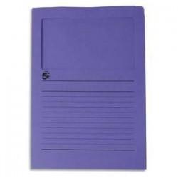 Paquet de 50 pochettes coins - A fenêtre - Carte 120g - 22x31cm - Violet - 5ETOILES
