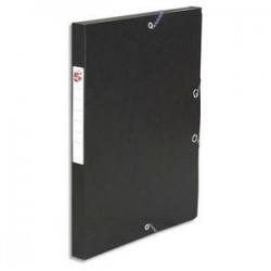 Boîte classement à Elast. - Carte 600g - Noir  - Dos 25mm - 5ETOILES