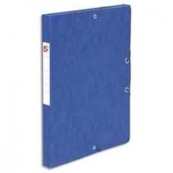 Boîte classement à Elast. - Carte 600g - Bleu - Dos 25mm - 5ETOILES