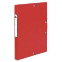 Boîte classement à Elast. - Carte 600g - Rouge - Dos 25mm - 5ETOILES