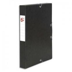 Boîte classement à Elast. - Carte 600g - Noir - Dos 40mm - 5ETOILES