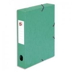 Boîte classement à Elast. - Carte 600g - Vert - Dos 60mm - 5ETOILES