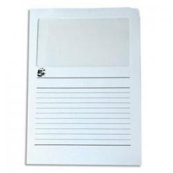 Paquet de 50 pochettes coins - A fenêtre - Carte 120g - 22x31cm - Blanc - 5ETOILES