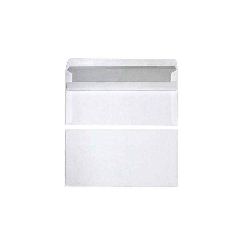500 enveloppes - 110x220 - Autocollantes - 80g - blanc -NEUTRE