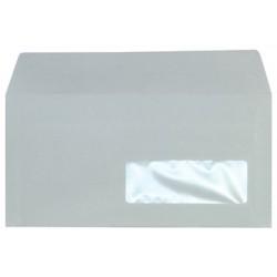 500 enveloppes Fenêtres - 110x220 - Autocollantes - 80g - blanc -NEUTRE