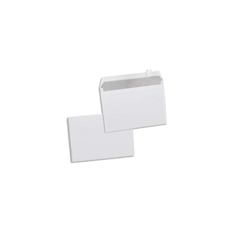 500 enveloppes - 162x229 - Auto/Adhés. - 80g - blanc - NEUTRE