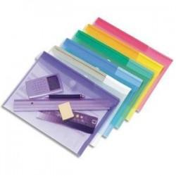 Enveloppe polypro. 2/10è - Velcro - A4 - Assortis- TARIFOLD