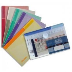 Enveloppe polypro. 2/10è - Velcro - A6 - 16,5x10,9  - Assortis- TARIFOLD