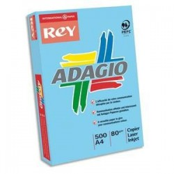 Papier - 500 feuilles  A4 - 80g -  bleu vif - Adagio - PAPYRUS
