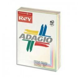 Papier - 5 teintes x 100 feuilles  A4 - 80g - Assortis - Adagio - PAPYRUS