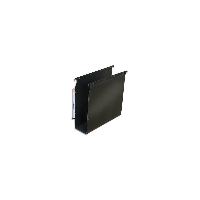 Dossier suspendu pour armoire - Noir - Fond 80mm - Polypro. - ELBA