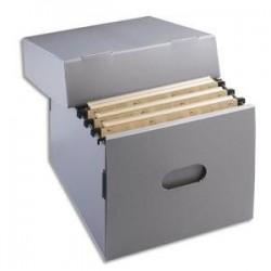 Conteneur archives pour dossiers suspendus - 35x33,5x27cm - Polypro. - EXTENDOS