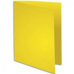 Chemise 220g - 24x32 - Paquet 100 - Jaune soleil - EXACOMPTA