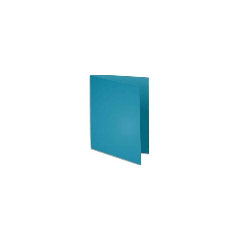 Chemise 220g - 24x32 - Paquet 100 - Turquoise - EXACOMPTA