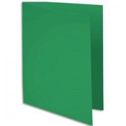Chemise 220g - 24x32 - Paquet 100 - Vert sapin - EXACOMPTA