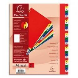 Intercalaires imprimés - Polypro. - 12/100è - de 1 à 31 - EXACOMPTA