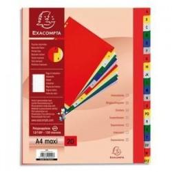 Intercalaires imprimés - Alphabétique - Polypro. - 12/100è -  EXACOMPTA