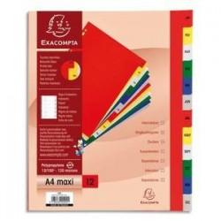 Intercalaires imprimés - Mensuel - Polypro. - 12/100è -  EXACOMPTA