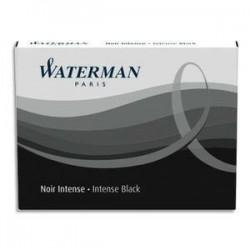 Etui 8 cartouches d'encre - Waterman - Noir - Longue