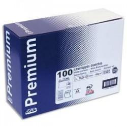 Boite 100 enveloppes - auto-adh.- Blanc -100g - C5 - 162x229mm --GPV