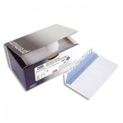 Boite 200 enveloppes - auto-adh.- Blanc -100g - DL - 110x220mm - Fenêtre 45x100mm -GPV