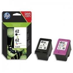 Multipack HP 62 - Noir -Couleurs - JE N9J71AE - HP