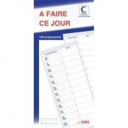Carnet - A FAIRE CE JOUR - ELVE