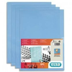 S/10 poch/Coin - FARD'LISS - PVC - Bleu - ELBA