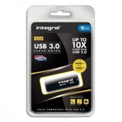Clé USB 3.0 - 16GO - Noir - INTEGRAL