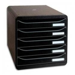 Module - BIG BOX PLUS - 5 Tiroirs - Noir - EXACOMPTA